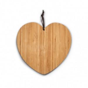 Tocator maro din lemn 26x28 cm Coeur Zeller