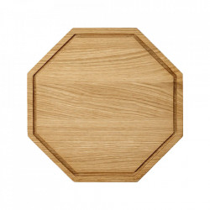 Tocator octagonal maro din lemn 25x25 cm Wonder Bolia