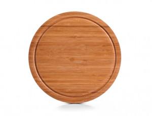 Tocator rotund maro din lemn 30 cm Round Cutting Board Zeller