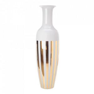 Vaza alba/aurie din portelan 180 cm Stripes Pols Potten