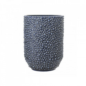 Vaza albastra din ceramica 20,5 cm Bubbles Bloomingville