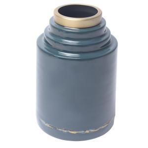 Vaza albastra din metal 24 cm Olia Zago