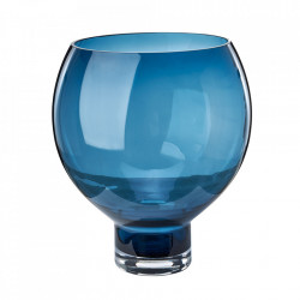 Vaza albastra din sticla 40 cm Coupe Pols Potten