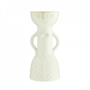 Vaza crem din ceramica 33 cm Woman Madam Stoltz