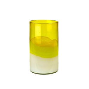 Vaza galbena din sticla 24 cm Layers Yellow S Pols Potten