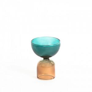 Vaza multicolor din sticla 10 cm Dibe Small La Forma