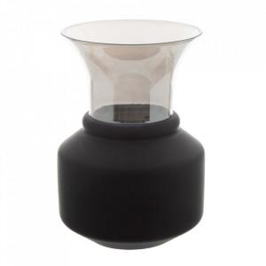 Vaza neagra/gri din sticla 29 cm Grivy Ixia