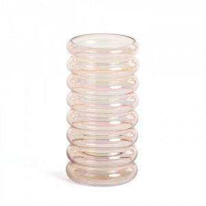 Vaza roz din sticla 20 cm Aureline La Forma