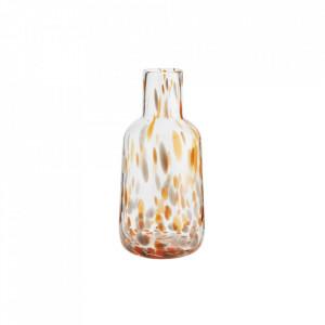 Vaza transparenta/portocalie din sticla 23,5 cm Dotted Madam Stoltz