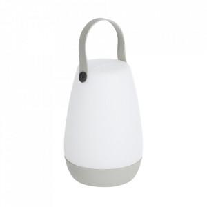Veioza alba cu USB din polietilena 28 cm Dianela Kave Home
