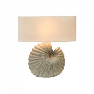 Veioza bej din in si ceramica 55 cm Shella Invicta Interior