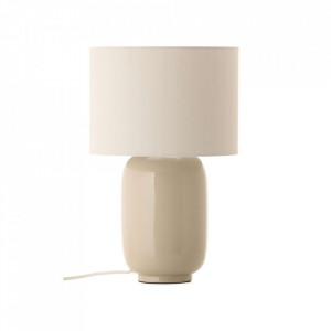 Veioza grej din ceramica si bumbac 43 cm Cadiz Frandsen Lighting