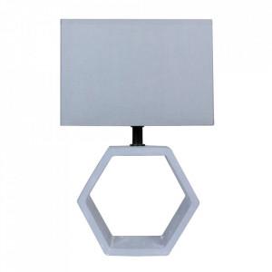 Veioza gri grafit din PVC si beton 35 cm Vidal Candellux