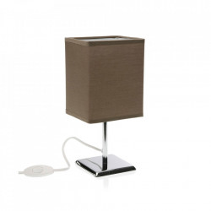 Veioza maro/argintie din metal 27,5 cm Cobain Brown Versa Home