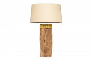 Veioza maro/bej din lemn si in 73 cm Pure Nature Invicta Interior