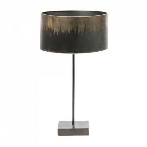 Veioza neagra/aurie din fier 56 cm Blackout Be Pure Home