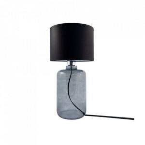 Veioza neagra din textil si sticla 41 cm Samasun Zuma Line
