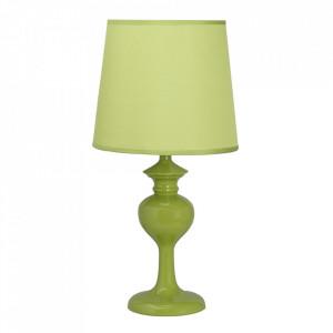 Veioza verde din PVC si otel 41 cm Berkane Candellux