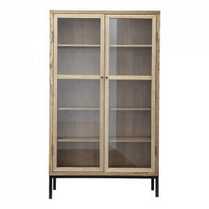Vitrina din lemn de frasin si sticla 205 cm Harmony L House Doctor