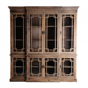 Vitrina maro/transparenta din lemn si sticla 221 cm Cadore Vical Home