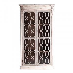 Vitrina maro/transparenta din lemn si sticla 221 cm Sievi Vical Home