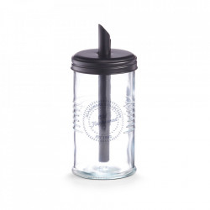 Zaharnita transparenta/neagra din sticla si metal 7,5x17 cm Old Fashioned Zeller