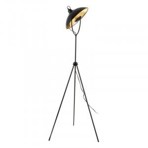 Lampadar negru din metal 140 cm Industrial Ixia
