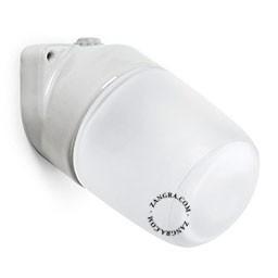 Aplica portelan alb mat cabluri vizibile Zangra