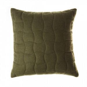Perna decorativa patrata verde din lana 45x45 cm Sohan Zago