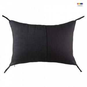 Perna decorativa dreptunghiulara mov/neagra din bumbac 35x50 cm Purple Black Zago