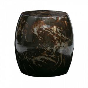 Masuta neagra din fier 44 cm Sludge Black Be Pure Home