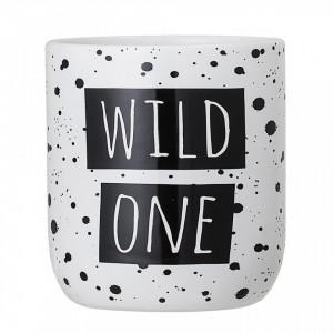 Borcan alb/negru din dolomita Wild One Bloomingville