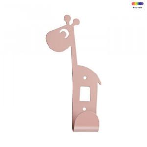 Cuier roz din metal Giraffe Done by Deer
