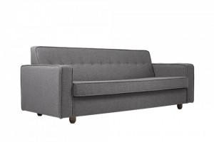 Canapea extensibila gri din polipropilena si lemn pentru 3 persoane Zugo Grey Custom Form