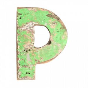 Decoratiune verde din lemn 18 cm P Raw Materials