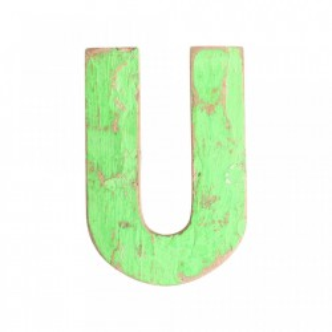 Decoratiune verde din lemn 18 cm U Raw Materials