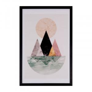 Tablou multicolor din MDF si polistiren 40x60 cm Isla Somcasa
