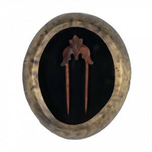 Decoratiune aurie/neagra din fier pentru perete 23x28 cm Hairpin Be Pure Home