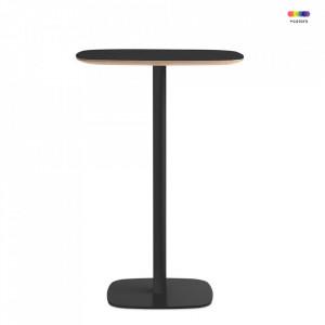 Masa neagra din otel si linoleum 70x70 cm pentru cafea Form Cafe L Normann Copenhagen