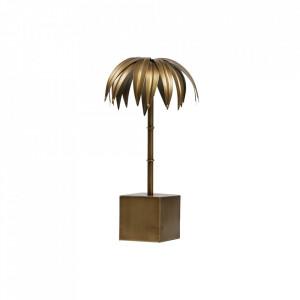 Decoratiune aurie din metal 40 cm Palm M Antique Be Pure Home