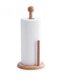 Suport de bucatarie maro din lemn pentru hartie Kitchen Towel Stand Zeller