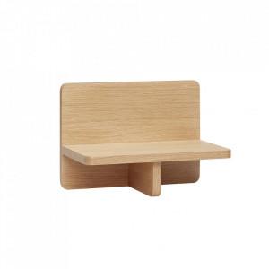 Raft maro din lemn 35 cm Oak Shelf Hubsch
