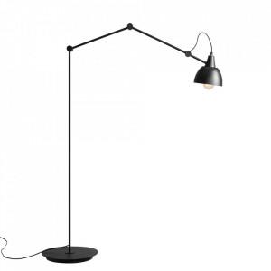 Lampadar negru/auriu din metal 116 cm Aida Floor Aldex