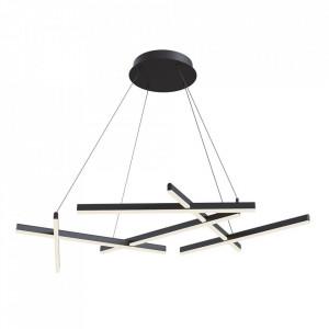 Lustra neagra din metal cu LED Line Pendant Black Maytoni