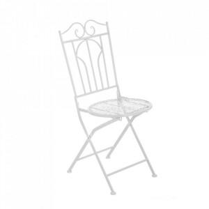 Scaun alb din metal pentru exterior Refined Chair Unimasa