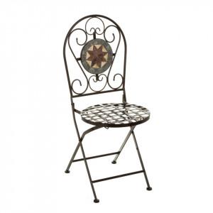 Scaun pliabil multicolor din metal si ceramica pentru exterior Vintage Chair II Unimasa