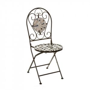 Scaun pliabil multicolor din metal si ceramica pentru exterior Elegance Chair Unimasa