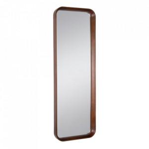 Oglinda maro din lemn de fag si sticla 40x120 cm Evika Ixia