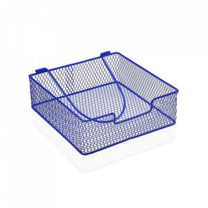 Suport albastru din metal pentru servetele Napkin Versa Home