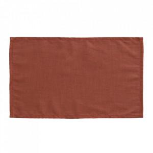 Set 4 protectii masa dreptunghiulare maro din textil 30x50 cm Samay La Forma